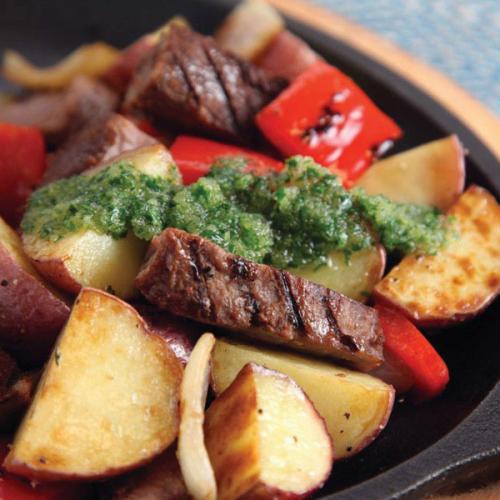 Grilled Beef Tri-Tip Skillet