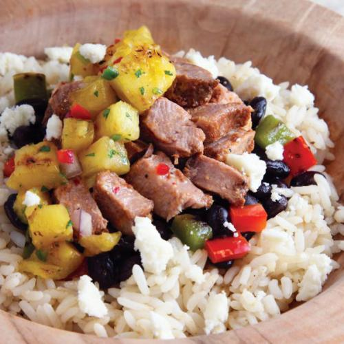 Pork Al Pastor Rice Bowl